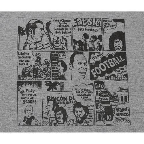 サッカージャンキー(soccer junky) 4コマ de football Dry コットンTシャツ SJ17106-133(Men's)
