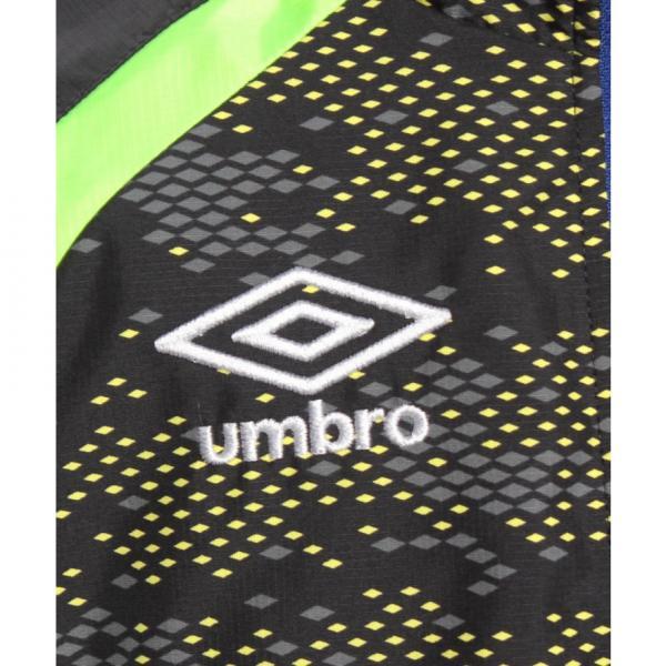 アンブロ(UMBRO) ジュニア ラインドサーモハーフジップ長袖トップ UBA4738K BLK(Jr)