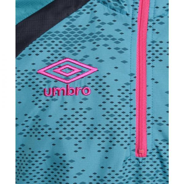 アンブロ(UMBRO) ジュニア ラインドサーモハーフジップ長袖トップ UBA4738K TUQ(Jr)
