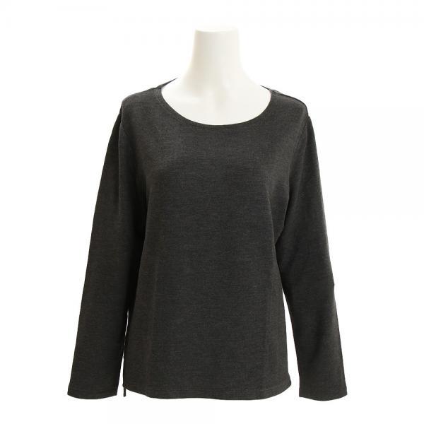 クー(Coo.) ミニ裏毛 長袖 Tシャツ 872Q7CD2425 CGRY(Lady's)