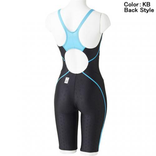 スピード(SPEEDO) FLEX Σセミオープンバックニースキン VII 競泳用 オールインワン FINA承認 SD47H5S2 KB(Lady's)
