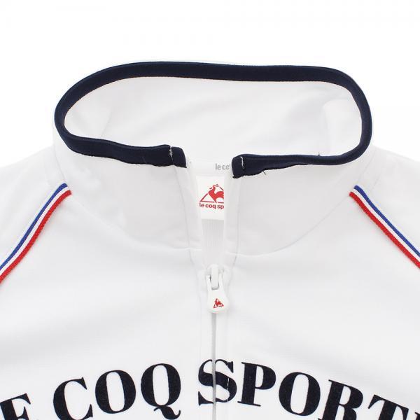 ルコック スポルティフ(Lecoq Sportif) ウォームアップジャケット QB-555273 WHT(Lady's)