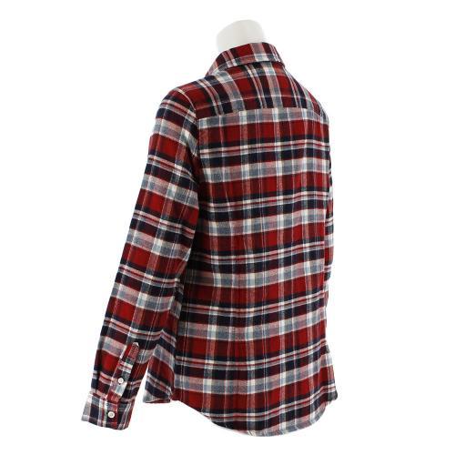 クー(Coo.) ネルチェックロングスリーブシャツ 872Q7CG2418 RED (Lady's)