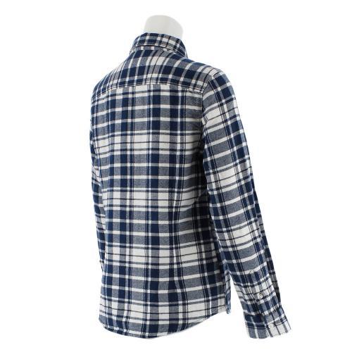クー(Coo.) ネルチェックロングスリーブシャツ 872Q7CG2418 WHT (Lady's)
