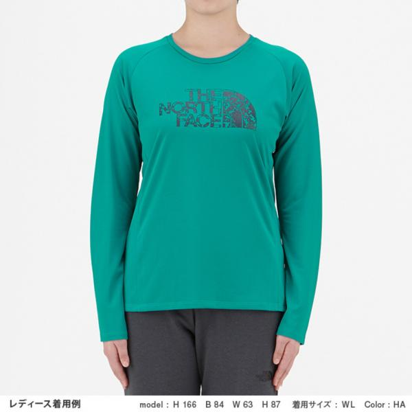 ノースフェイス(THE NORTH FACE) ロングスリーブGTDロゴ クルーネックシャツ NTW11784 HA(Lady's)