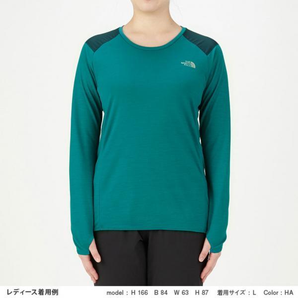 ノースフェイス(THE NORTH FACE) ロングスリーブクライメイトウール クルーネックシャツ NTW61783 HA(Lady's)