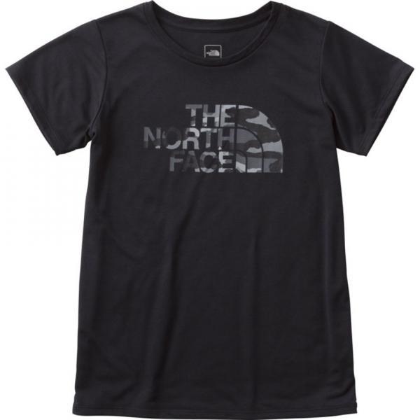 ノースフェイス(THE NORTH FACE) TNFカモフラージュロゴTシャツ NTW61787 K(Lady's)