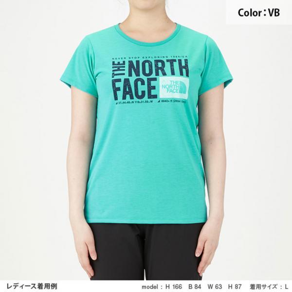 ノースフェイス(THE NORTH FACE) TNFスクエアロゴTシャツ NTW81785 VB(Lady's)