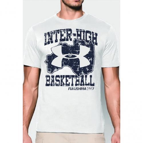 アンダーアーマー(UNDER ARMOUR) 大会記念 アンダーアーマーTシャツ バスケ #1325128 WHT(Men's)