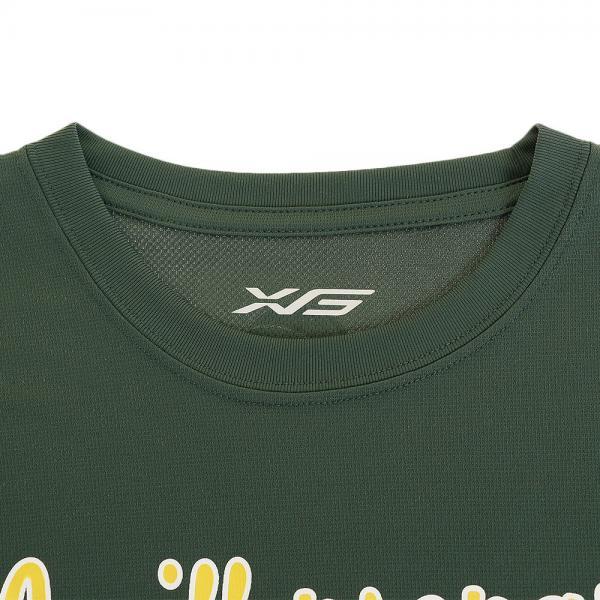 エックスティーエス(XTS) ドライプラス メッセージTシャツ 751G7CD6329 DGRN(Men's)