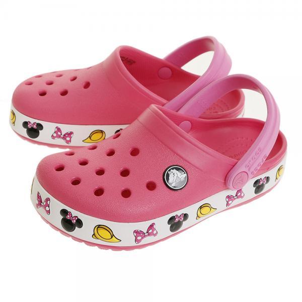 クロックス(crocs) ジュニア クロックバンド ミニー #204993-6NP(Jr)