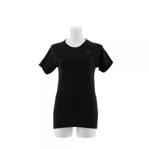 オドロ(ODLO) EVOLUTION LIGHT ベースレイヤー 半袖Tシャツ 184001 BKXGY(Lady's)