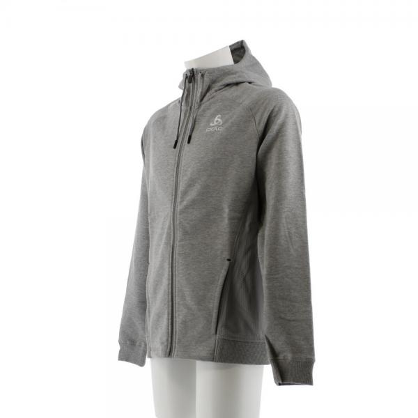 オドロ(ODLO) MIDLAYER TECHSTYLE フルジップ パーカー 350002 GRY(Men's)