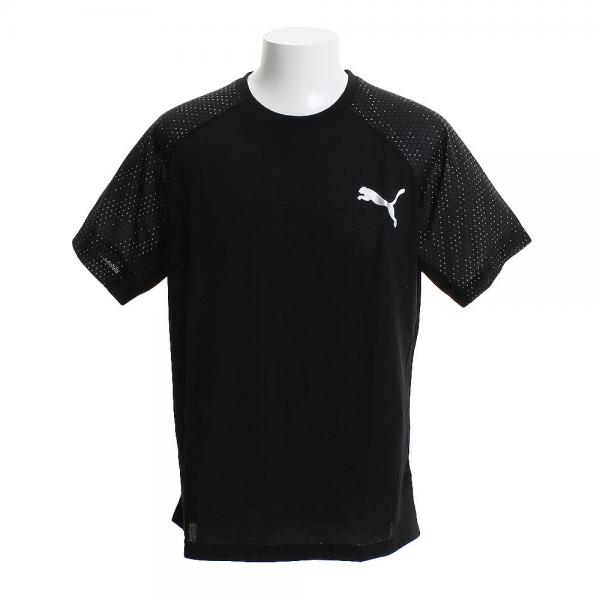 Puma Graphic Short Sleeve Mens Running Top Grey Shirts Activewear Tops