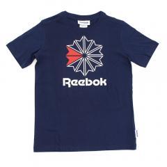 リーボック ジュニアスポーツウェア Tシャツ F ラージ スタークレスト TEE DLM21 BR9250 ボーイズ カレッジネイビー