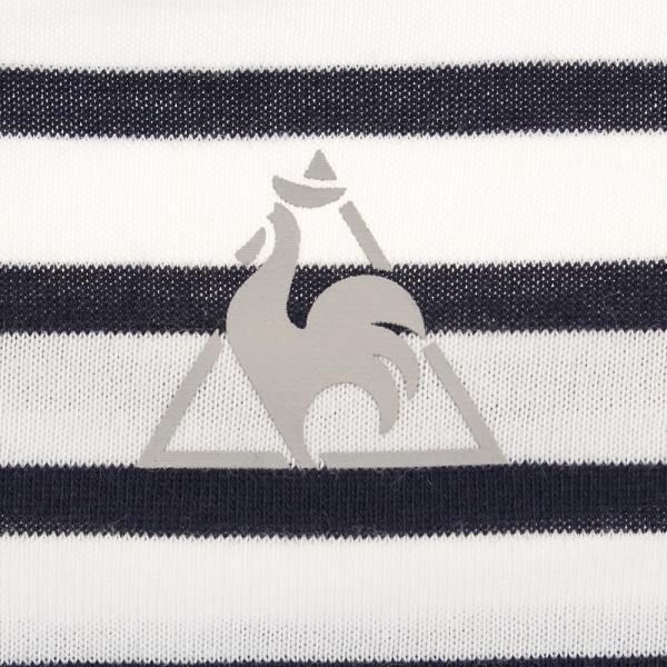 ルコック スポルティフ(Lecoq Sportif) 【ゼビオグループ限定】 半袖ボーダーTシャツ QMWLJA10XB WHT(Lady's)