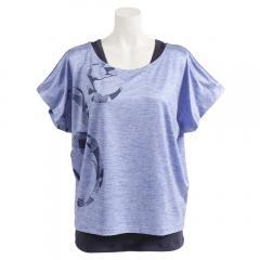 HUITIEME フィットネスTシャツ タンクトップセット HU19SUK821909 SAX(Lady's)