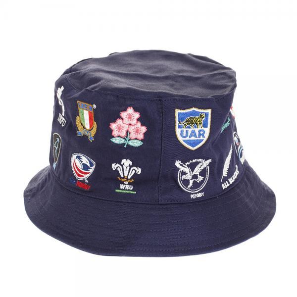 ノーブランド(NO BRAND) ラグビーワールドカップ2019(TM) 公式ライセンス 20 UNIONS ハット NVY R33179(Men's、Lady's)