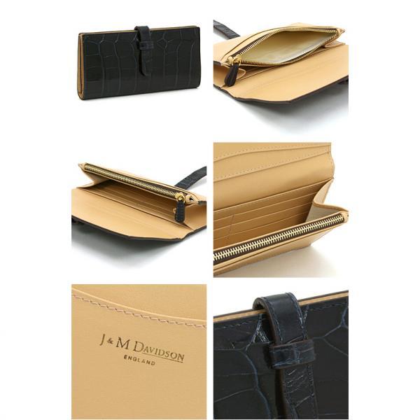ジェイアンドエムデヴィッドソン J&M DAVIDSON 長財布ファスナー 10072 7267 ブラック(bk)