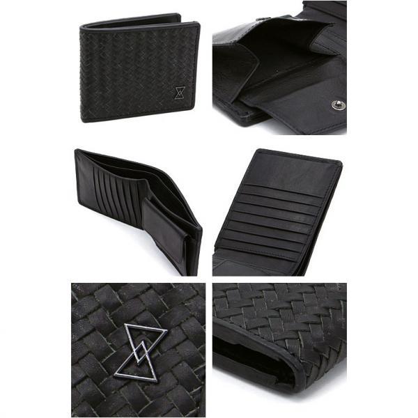テラコモ LINO二つ折り財布 670-321 ブラック(801)