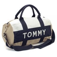 トミーヒルフィガー TOMMY HILFIGER ボストンバッグ(ショルダー付)  6922644:カーキ×ホワイト×ネイビー