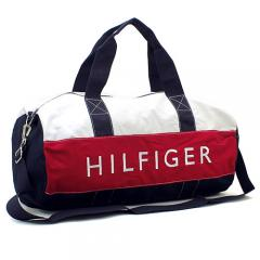 トミーヒルフィガー TOMMY HILFIGER ボストンバッグ(ショルダー付) 6928342:ネイビー×ホワイト×レッド