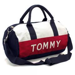 トミーヒルフィガー TOMMY HILFIGER ボストンバッグ(ショルダー付) 6922644:ネイビー×ホワイト×レッド