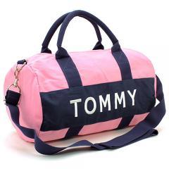 トミーヒルフィガー TOMMY HILFIGER ボストンバッグ(ショルダー付) 6922644:ピンク×ネイビー
