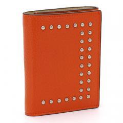 ジェイ&エムデヴィッドソン J&M DAVIDSON 三つ折り財布 10146N 7266 ダークオレンジ(5550)