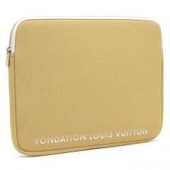 ルイヴィトン LOUIS VUITTON フォンダシオンルイヴィトン Fondation Louis Vuitton パソコンケース LAP TOP SLEEVE 13インチ キャメル