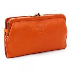 イルビゾンテ IL BISONTE がま口長財布 C0671 P オレンジ(166)