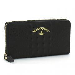 ヴィヴィアンウエストウッド Vivienne Westwood アングロマニア ANGLOMANIA 長財布ラウンドファスナー 51050024 40230 ブラック
