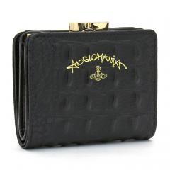 ヴィヴィアンウエストウッド Vivienne Westwood アングロマニア ANGLOMANIA 二つ折りがま口財布 51010019 40230 ブラック