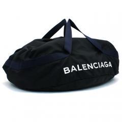 バレンシアガ BALENCIAGA ホイールバッグロゴプリントスポーツバッグ WHEEL BAG LOGO PRINT SPORT BAG ボストンバッグ 489940 ブラック(1090)