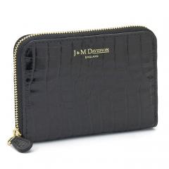 ジェイ&エムデヴィッドソン J&M DAVIDSON スモールジップパース SMALL ZIP PURSE 小銭入れ 財布 5259 7444 ブラック×ブラック(9991)