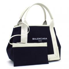 バレンシアガ BALENCIAGA ネイビーカバS NAVY CABAS S トートバッグ 339933 ネイビー×ホワイト(4092)