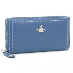 ヴィヴィアンウエストウッド Vivienne Westwood ケンブリッジ CAMBRIDGE 長財布ラウンドファスナー 51050022 40246 ブルー