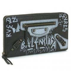 バレンシアガ BALENCIAGA 長財布ラウンドファスナー 253036 0FE0T ブラック×ホワイト(1065)