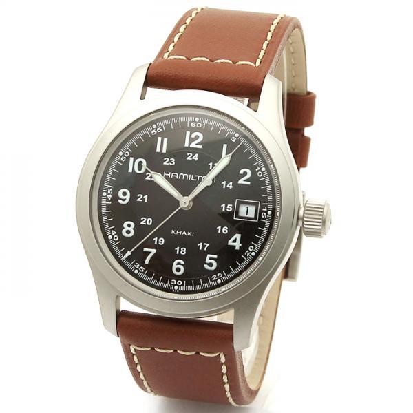 premium selection 1abbc 62dc5 ハミルトン HAMILTON カーキ フィールド メンズ 時計 ウォッチ H68411533 ブラック
