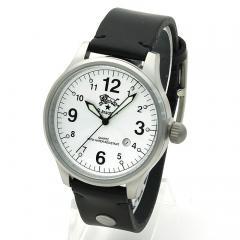 イルビゾンテ IL BISONTE メンズ 時計 ウォッチ H0225 P2 ホワイト文字盤 ブラック(135N)