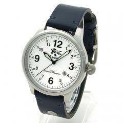 イルビゾンテ IL BISONTE メンズ 時計 ウォッチ H0225 P2 ホワイト文字盤 ブルー(866N)