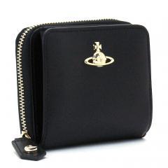 ヴィヴィアンウエストウッド Vivienne Westwood ピムリコ PIMLICO 二つ折り財布ラウンドファスナー 51080020 40187 ブラック