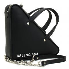 バレンシアガ BALENCIAGA トライアングルダッフル XS チェーン ハンドバッグ(ショルダー付) 527272 C8K02 ノワール(1000)
