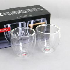 ボダム bodum  PAVINA 4557-10US  ダブルウォールグラス 80ml  ペアセット