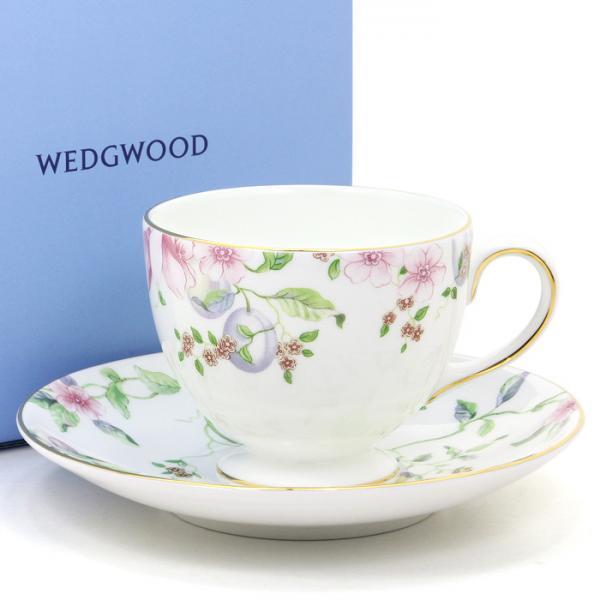 ウェッジウッド WEDGWOOD スウィートプラム ティーカップ&ソーサー リー