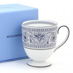 ウェッジウッド WEDGWOOD フロレンティーン インディゴ ホワイト マグ リー