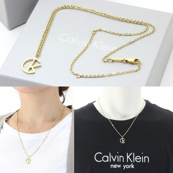 カルバンクライン CALVIN KLEIN CKモチーフ ネックレス KJ6DJP100100 ステンレス ゴールドカラー ユニセックス