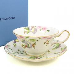 ウェッジウッド WEDGWOOD スウィートプラム ティーカップ&ソーサー ピオニー