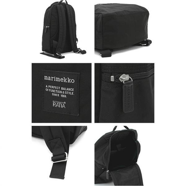マリメッコ Marimekko METRO メトロ リュック  039972:ブラック バックパック