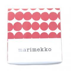マリメッコ marimekko Rasymatto デュベカバー (ダブル) 掛け布団カバー 068753-130 ホワイト ×レッド 240cm×220cm